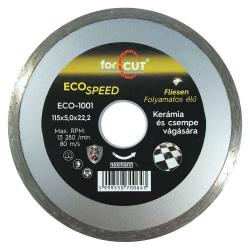 ECO csempevágó gyémánttárcsa, folyamatos élű 115x2,0x5,0x22,2