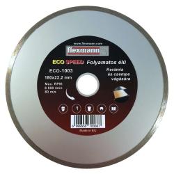 ECO csempevágó gyémánttárcsa, folyamatos élű 180x2,2x5,0x22,2 mm