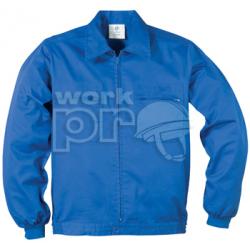Factory munkakabát, derekánál gumírozott dzseki fazon, rejtett húzózár, elasztikus mandzsetta, 245g/m2, 4 zseb, KIRÁLYKÉK/ROYAL