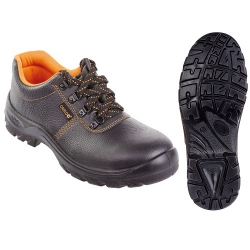 CARLO (S1) munkavédelmi cipő, acél orrmerevítő, széles orr-rész, csúszásbiztos, olaj-, saválló talp