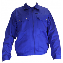 TOP004 dzseki kevertszálas, cipzáras, kék