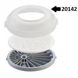 20142 adapter P2 cserélhető részecskeszűrő gázszűrővel való alkalmazásához