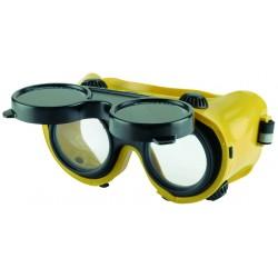 Lánghegesztő védőszemüveg felnyitható műanyag DIN5