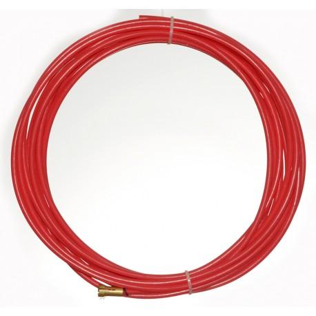 Huzalvezető teflon piros 3,4m 1,0-1,2mm