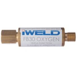 """FB30 visszaégésgátló patron reduktorra G1/4"""" oxigén"""