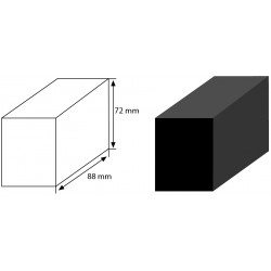 POLICLEAN nyers szén blokk 88x72x52 (1026 BB)