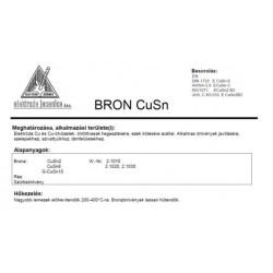 Elektróda BRON CU SN 2.5 mm (5kg / doboz)