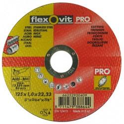 flexovit PRO 125 x 1,0 x 22,0 fém-inox