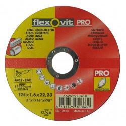 flexovit PRO 125 x 1,6 x 22,0 fém-inox
