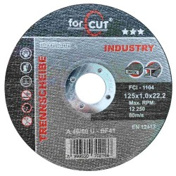 For Cut industry 125 x 1,0 x 22,2 fém-inox