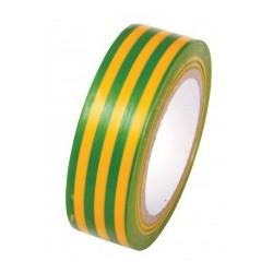 Pvc szigetelõ szalag 19 mm x 10 m zöld-sárga